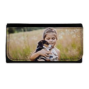 Lolapix - Cartera Grande Personalizada con tu Foto, diseño o Texto, Original y Exclusivo. Simil Piel Color Negro 5