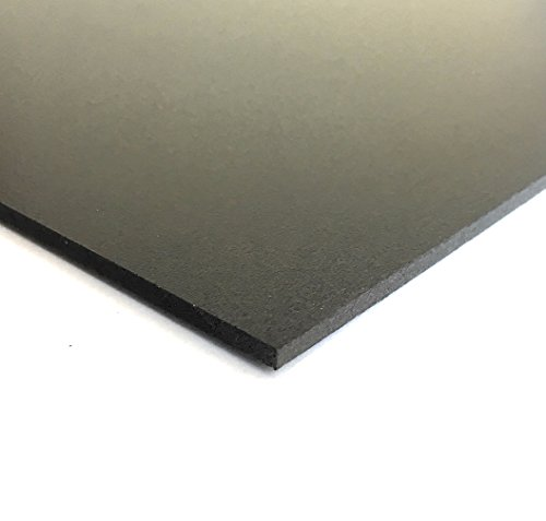 - Expanded PVC Sheet - Lightweight Rigid Foam - 3mm (1/8 Inch) - 24 x 48 Inches - Black - Ideal for Signage, Displays, and Digital/Screen Printing