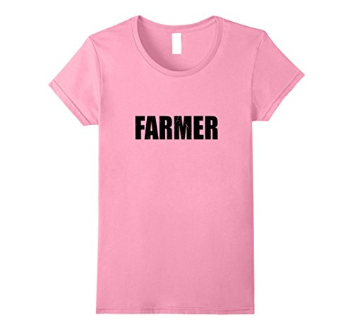 Farmer's Daughter Costume (Womens Farmer T Shirt Actor Halloween Costume Retro Distressed Medium Pink)