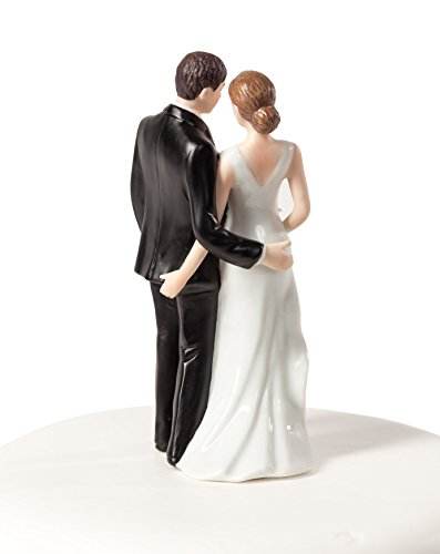 Wedding Collectibles Personalized Funny Sexy Tender Touch Cake Topper: Bride Hair: BLOND - Groom Hair: (Blonde Groom)