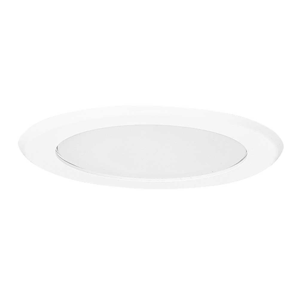 All-Pro 5051PS 5-Inch Trim Showerlight Trim, White Trim with Flat Frost Lens