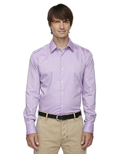 North End Men's Royal Oxford Dobby Taped Shirt, Orchid PRPL 459, -