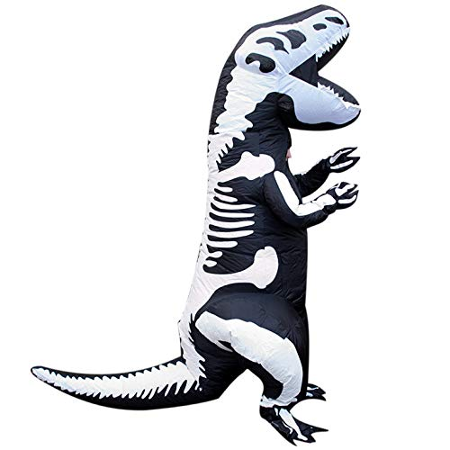 Morph Adults Skeleton Dinosaur T-Rex Inflatable Costume - Slight Color Run Fault -