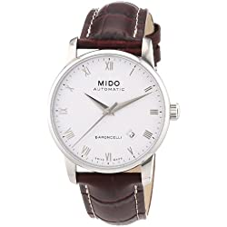 Mido Men's MIDO-M86004268 Baroncelli Analog Display Swiss Automatic Brown Watch
