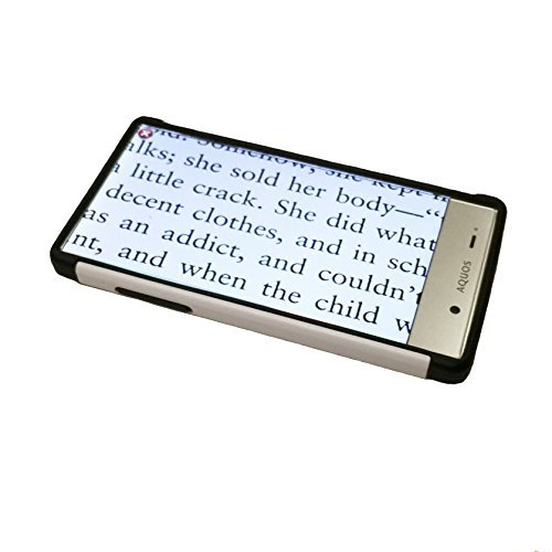 Aquos HD Digital Touch & OCR - 5'' Color Video Magnifier - 8 Hrs. of Battery Use! by MAGNIFYING AIDS