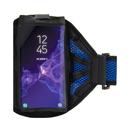 Hands-Free Performance Mesh Lined Cell Phone Workout Armband (Blue) for Google Pixel 3a XL, 3a, 3 XL, 3