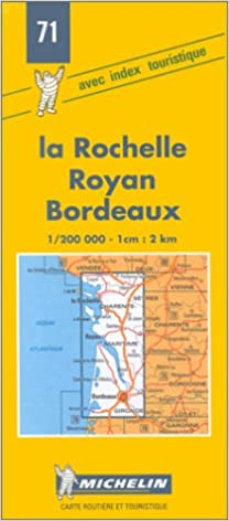 //TOP\\ Michelin La Rochelle/Royan/Bordeaux, France Map No. 71 (Michelin Maps & Atlases). Oregon market policies Prints vacas Sport