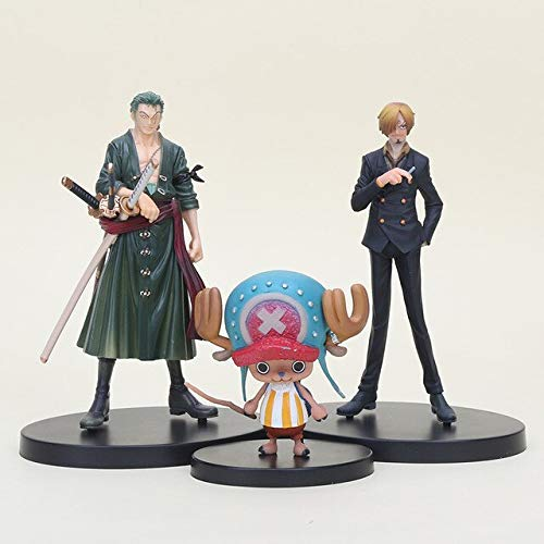 3Pcs/Set PVC Action Figure Toys Roronoa Zoro Tony Tony Chopper Sanji Collectible Model Doll Holiday Must Haves 6 Year Old Girl Gifts The Favourite Toys Superhero Cupcake Toppers LOL UNbox by Scallion