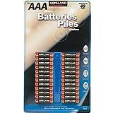 Kikland Signature Alkaline batteries - 48pk 7 Year Shelf life Best By 2016