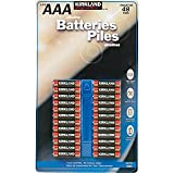 Kikland Signature Alkaline batteries - 48pk 7 Year Shelf life Best By 2016