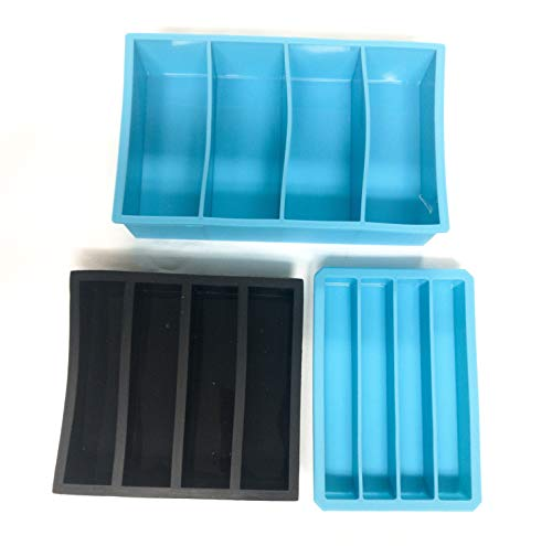 PKM 3 PC Silicone MOLDS Casting for Pen Blanks Knife Scales and Oversized Pen - Cast Resin Scale