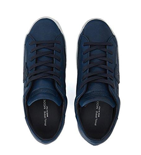 Blu Pelle West Sneaker Model Paris Philippe In n6qXZY6w