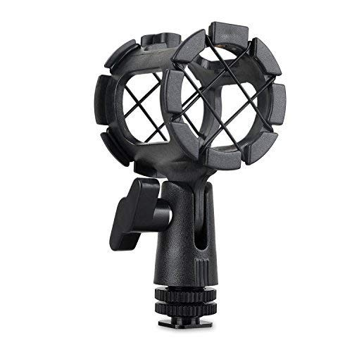 SMALLRIG Microphone Shock Mount with Cold Shoe Pinch for Camera Shoes and Boompoles 1859