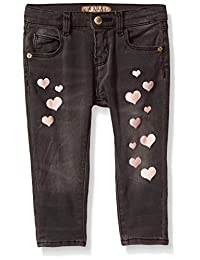 GUESS baby-girls Baby Heart Skinny Jeans