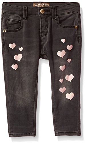 Guess Baby Clothes - GUESS Baby Girls' Heart Skinny Jeans, Grey Cloudy wash, 6/9M
