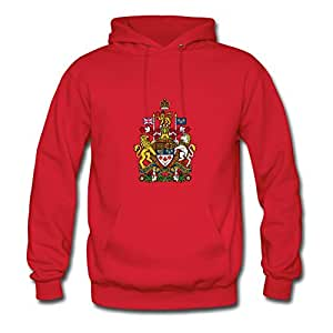 Regularclothing Women Crest Canada (dd) Print Sweatshirts (x-large,red)