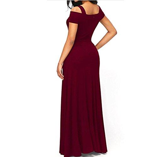 B Largos Elegante del Color sólido Correas Noche Cruzadas de Mujeres Collar Partido Para Vestido Vestidos wBA6WwqH