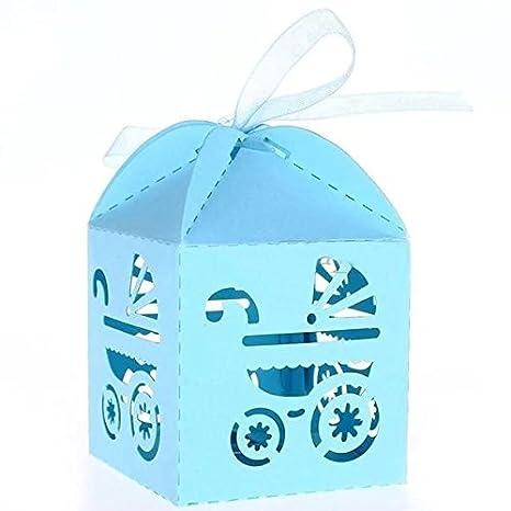 E-Goal fitTek 50pcs/Pack bebé Carrito Estilo Candy Caja con Lazo ...
