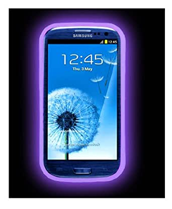 2 Pack of Galaxy S3 Samsung Glowing Case - Glow In The Dark For Samsung S3 (S3 - Glow Purple)
