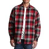 3e275ce7348 Wrangler Mens Sherpa Lined Long Sleeve Flannel Shirt (Small 34 36 ...