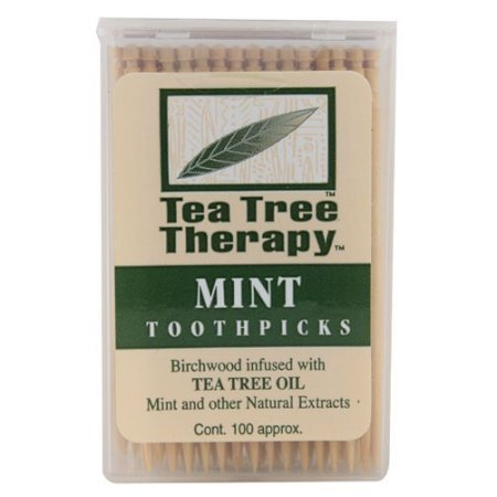 Tea Tree Therapy Mint Toothpicks 100 Ct (Pack of 3) (Refreshing Tea)