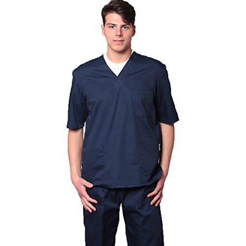 A Scelta Unisex Colori Fratelliditalia Av Casacca Blu Ospedaliera Cotone 100 Scollo Pantalone Divisa ZZ4w1v