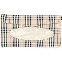 AREO 90 Attractive Tissue Box Tissue Paper Holder, Paper Napkin Storage for Home & Car (Attractive Design, Checks)