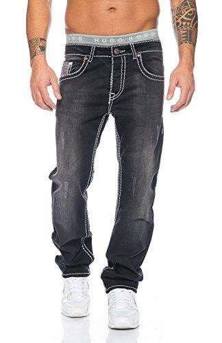Schwarz Creek Uomo Straight Jeans Rock Used Sg10qw