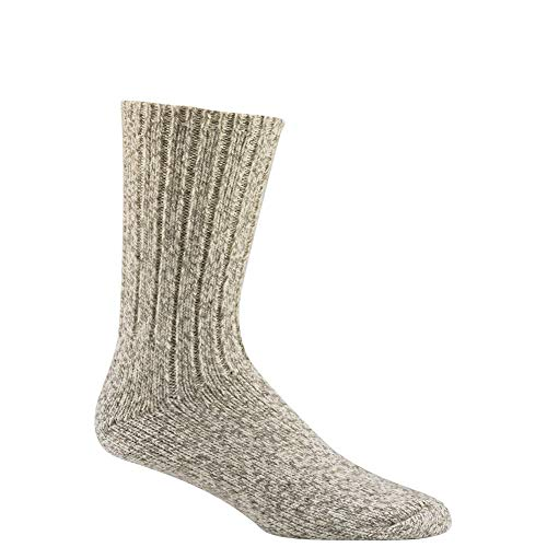 Wigwam Unisex El-Pine Warm Wool Heavyweight Socks, Grey Twist, XL ()