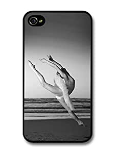 AMAF ? Accessories Ballet Dancer Dancing on the Seaside with Sunset case for iPhone 4 4S