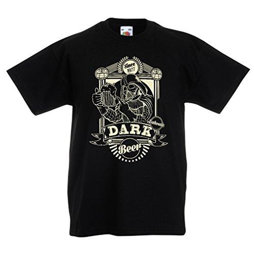 lepni.me Camisas para niños Cerveza Oscura (9-11 Years Negro Multicolor)