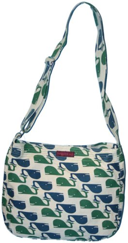 Bungalow360 Lucille Whale Vegan Messenger Bag