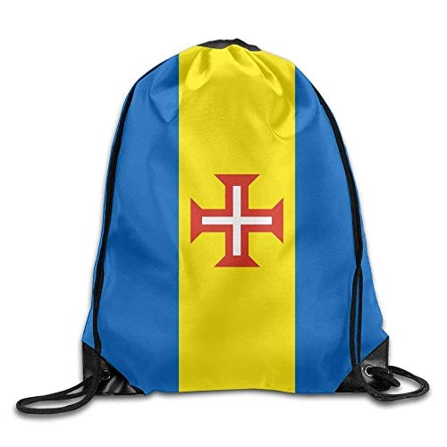 - Carl McIsaac Flag Of Madeira Funny Drawstring Bags Travel Backpack Tote School Rucksack Size: 41 X 33 cm