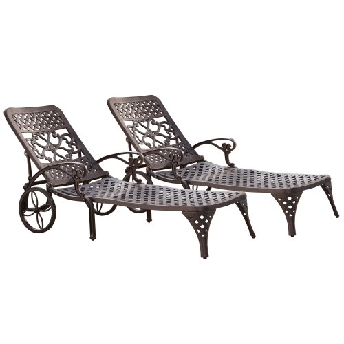 (Biscayne Bronze Chaise Lounge Chair by Home Styles)