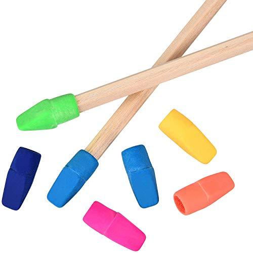 Pencil Eraser Caps, Mixed Color Pencil Top Erasers School Supplies for Teachers, Eraser Pencil, Erasers, Eraser Caps in School, Home, Office, Pack of 200 by UHBGT (Image #1)