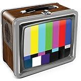 Aquarius Vintage TV Embossed Large Tin Fun Box