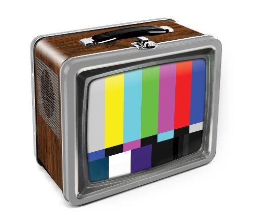Aquarius Vintage TV Embossed Large Tin Fun Box (Embossed Tin Box)