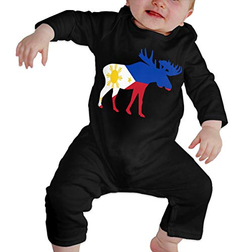 U99oi-9 Long Sleeve Cotton Bodysuit for Unisex Baby, Fashion The Philippines Moose Playsuit -