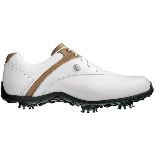 FootJoy Women's LoPro Golf Shoes White/Taupe Size 9.5 M US