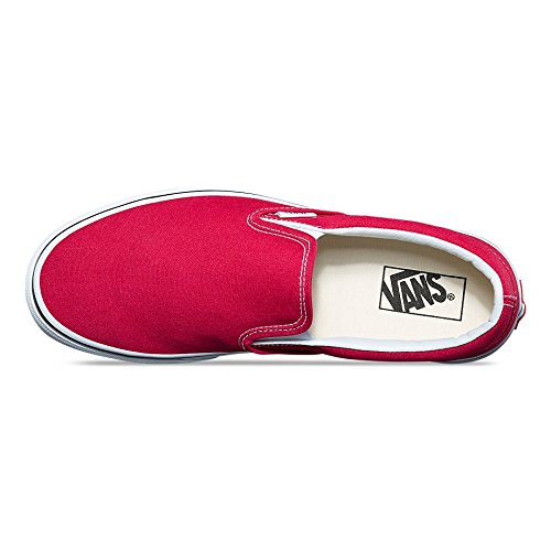 Vans Mens Slip-on (tm) Core Classic Crimson / Sann Vit