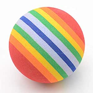 Elastic Rainbow Ball five cm diameter foam cotton ball cat pet toy