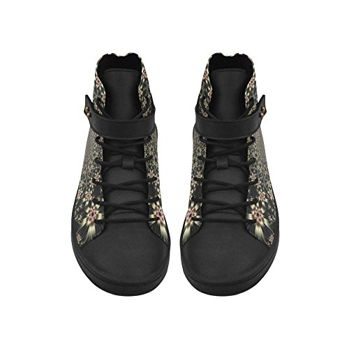 Artsadd White Flower Burst Round Toe Zapatos Para Mujer Boost Sneaker