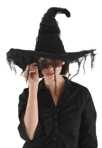 (elope Grunge Witch Hat, Black, One Size)