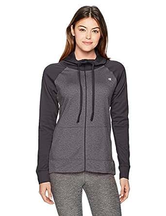 Champion Womens J29898 Performance Fleece Full-Zip Jacket Long Sleeve Fleece Jacket - Gray - X-Small