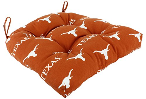 "College Covers Texas Longhorns Seat Patio D Cushion, 20"" x 20"" Orange"