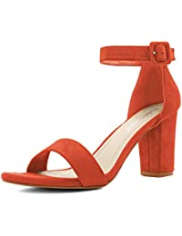 Women's Chunky Heel Ankle Strap Sandals