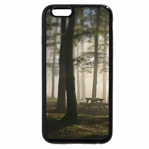iPhone 6S / iPhone 6 Case (Black) very Foggy Forest Park