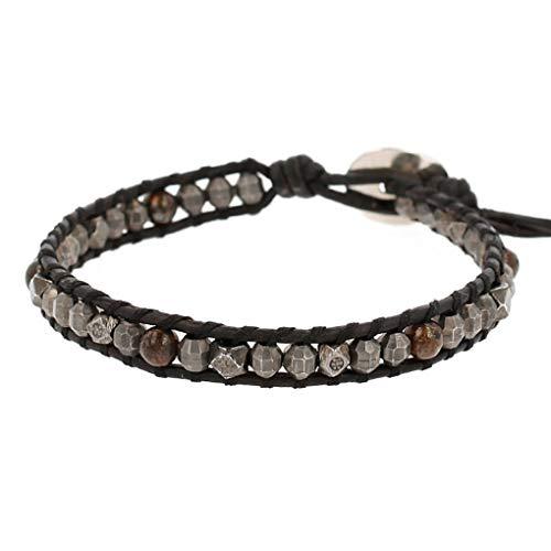 Chan Luu Single Wrap Bracelet in Bronzite and Silver