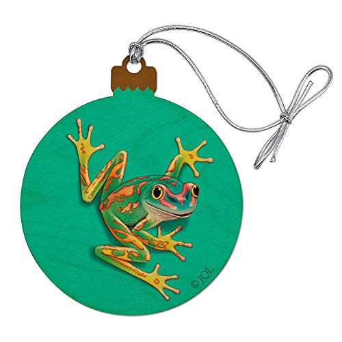 (GRAPHICS & MORE Big Tropical Rainbow Rainforest Tree Frog Wood Christmas Tree Holiday Ornament)