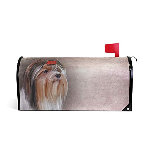 (WOOR Portrait Biewer Yorkshire Terrier Magnetic Mailbox Cover Standard Size-18